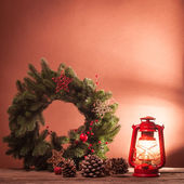 Christmas lamp — Stock Photo