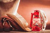 Vintage cowboy tools — Foto Stock