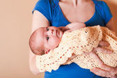 Mother with her newborn baby — Stock Photo