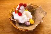 Crochet chicken — Stock Photo