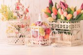 Easter birdcage — Stock Photo