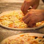 Fare pizza — Foto Stock