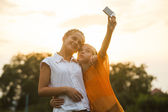 Friends selfie  — Stock Photo