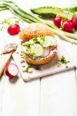 Spring sandwich — Stock Photo
