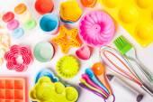 Rainbow silicone confectionery untersils — Stock Photo