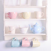 Vintage shelf — Stock Photo