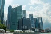 Edificios en el horizonte de singapur — Foto de Stock