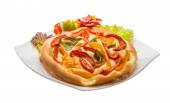 Pizza with bulgarian pepper — Stock Photo