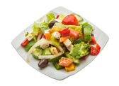 Delicous greek salad — Foto Stock