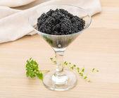 Svart kaviar — Stockfoto