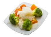 Boiled cabbage and broccoli — Stock Photo