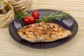 Grilled chichen breast — Stock Photo
