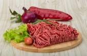 Raw minced beef — Stock Photo