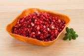 Cowberry in the bowl — 图库照片