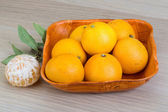 Tangerines in the bowl — Stock Photo