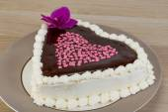Chocolate icing cake — Stock Photo