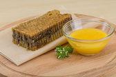 Honey with comb — Fotografia Stock