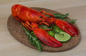 Red boiled lobster — Stockfoto