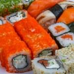 Japan Sushi set and rolls — Stock Photo #78014096