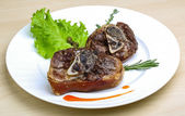 Roasted pork knee — Stock Photo
