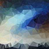 Abstract blue 2D polygonal background — Stock Vector