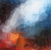 Abstract color 2D polygonal background — Stock Vector