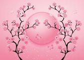 Cherry blossom motif template vector. Illustration — Stock Vector