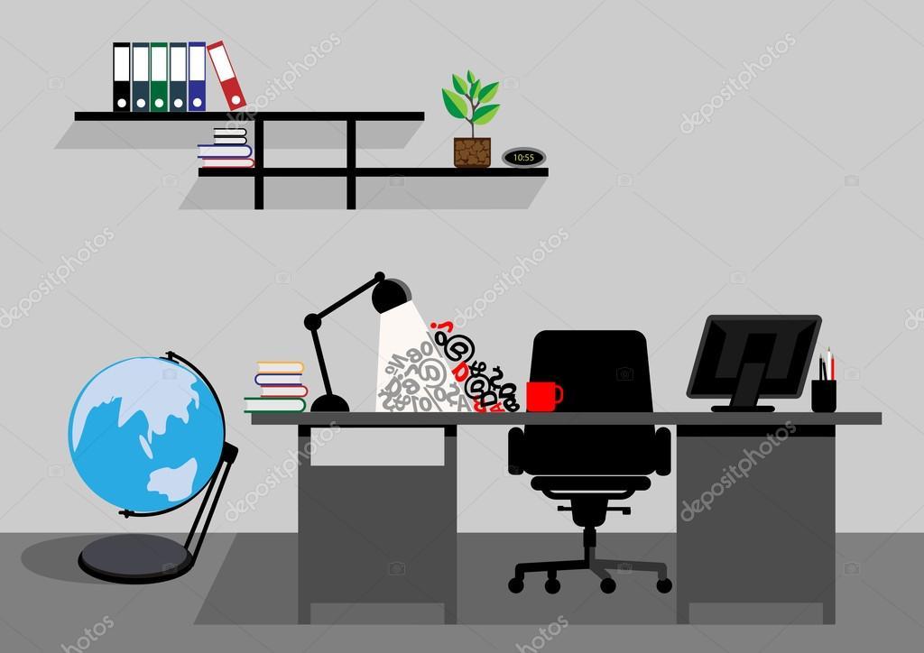Espacio De Trabajo Escritorio Oficina Creativa Mock Up De