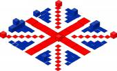 Abstract United Kingdom flag — Vetorial Stock