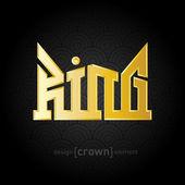 Luxury golden King Crown — Stock Vector
