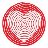 Spiral beauty heart — Stock Vector