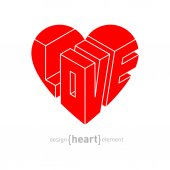 From heart with love — Stock Vector