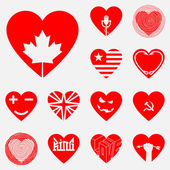 The set of original hearts — Stock Vector