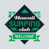 Surfing tee vintage design — Stock Vector