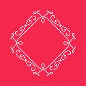 Elegant vintage border for monograms. — Stock Vector