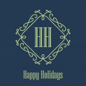 Happy holidays festive Card — Vetorial Stock
