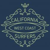 California west coast surfers — Stock Vector