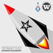 Rocket weapon system — Stock Vector