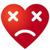 Dead heart symbol — Stock Vector