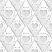 Beautiful seamless pattern with hearts. — Stock Vector