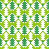 Seamless pattern with chrismas trees. — Stock Vector