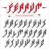 Isometric volume alphabet — Vecteur