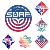 Set of vintage surfing logo — Stockvektor