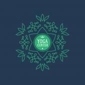 Logotype for  yoga class — Stock Vector