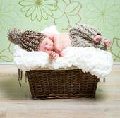 Newborn baby boy asleep — Stock Photo