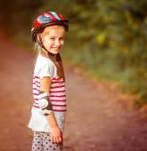 Little girl on roller skates — Stock Photo