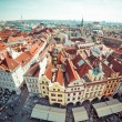 Houses with traditional red roofs in Prague — Stock Photo #54530205