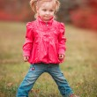 Little cute girl on the walk — Stock Photo #54533631