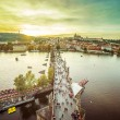 Charles Bridge over Vltava river in Prague — Stock Photo #54533749