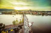 Charles Bridge over Vltava river in Prague — Stock Photo